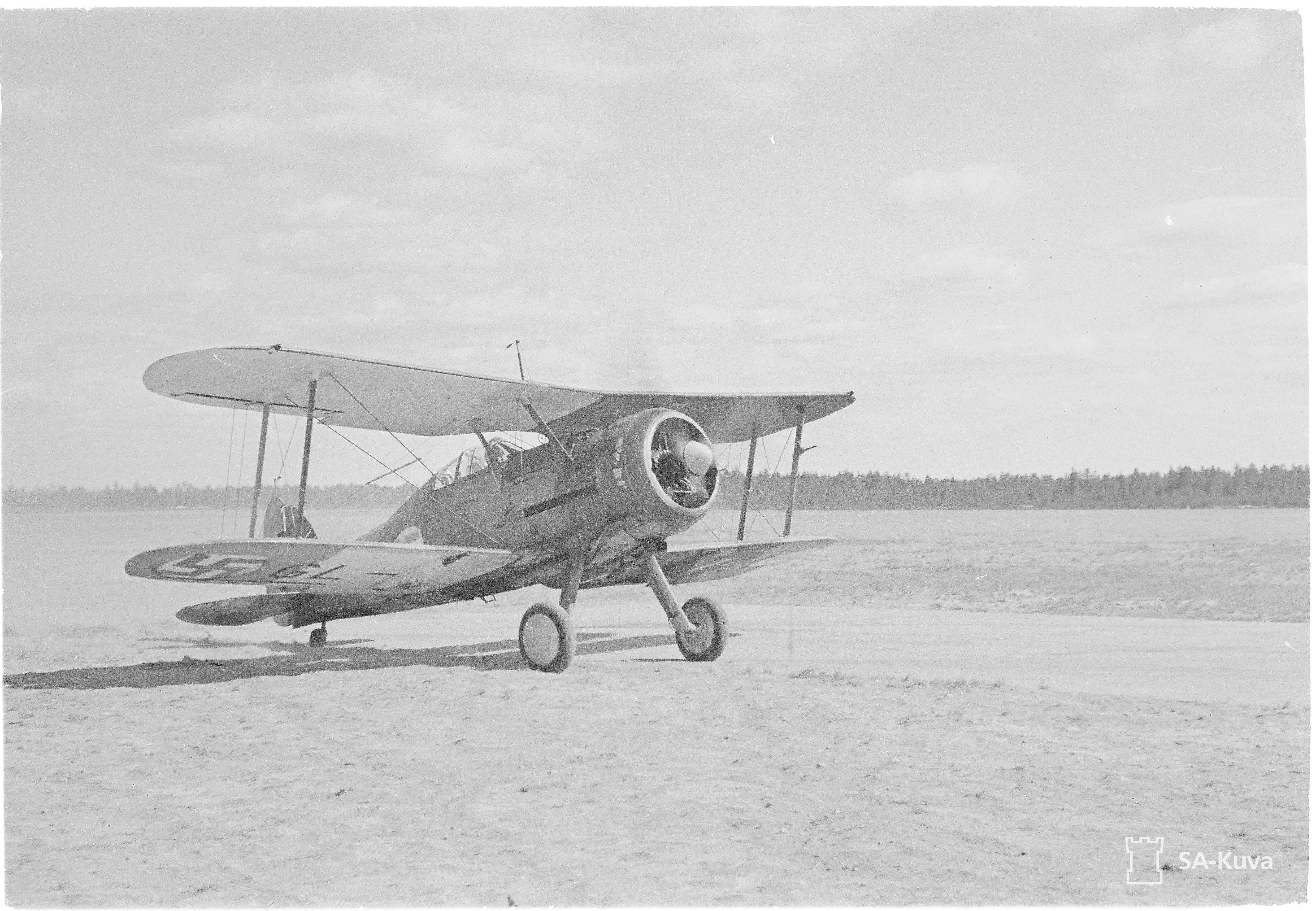 Englannissa rakennettu Gloster Gladiator oli Suomen Ilmavoimien käytössä vuoteen 1945 asti.